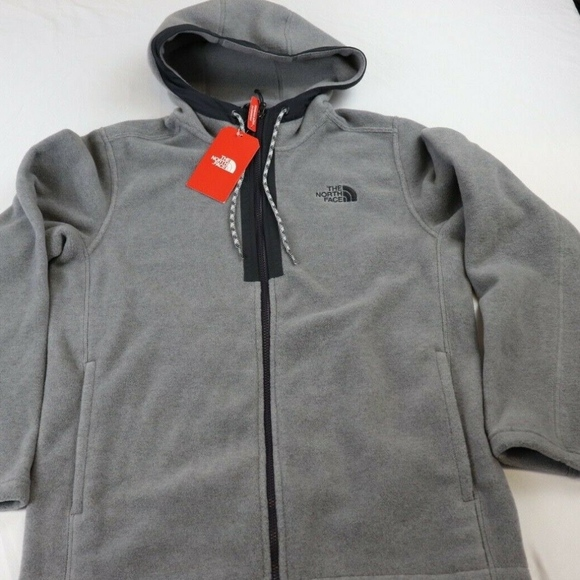 42af85700 PYRITE FLEECE HOODY, FULL ZIP JACKET, MEDIUM, GREY Boutique